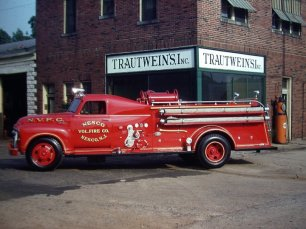 My grandfather built this firetruck. During its career it often turned in to a firehouse; I don't think it ever turned into a firehouse. Thanks to my cousin-in-law Rick for saving these photos.