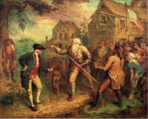 Rip Van Winkle, by John Quidor. You can see the original in the National Gallery; you can see this image courtesy of wikicommons.