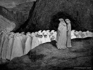 "The great Gustav Dore depicts Dante and Virgil in Hell: ""I had not thought death had undone so many."" And probably none of them was doing any writing anymore, either."