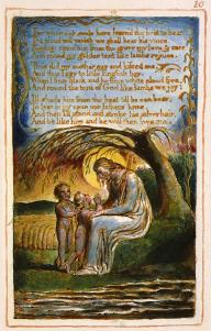 Here is the ending of the poem, in Blake's own hand and with his own illustration. (source: wikimedia.org/wikipedia/commons/6/65/Blake_Little_Black_Boy.jpg)