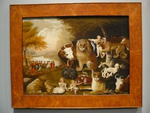 Civility reigns in Edward Hicks' painting of The Peaceable Kingdom. See it at the Brooklyn Museum. Source: http://upload.wikimedia.org/wikipedia/commons/6/62/WLA_brooklynmuseum_Edward_Hicks_The_Peaceable_Kingdom_2.jpg