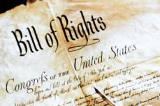 The Bill of Rights. My student was describing only Right #2, that pushy thing.  (source of this image: usgovinfo.about.com)